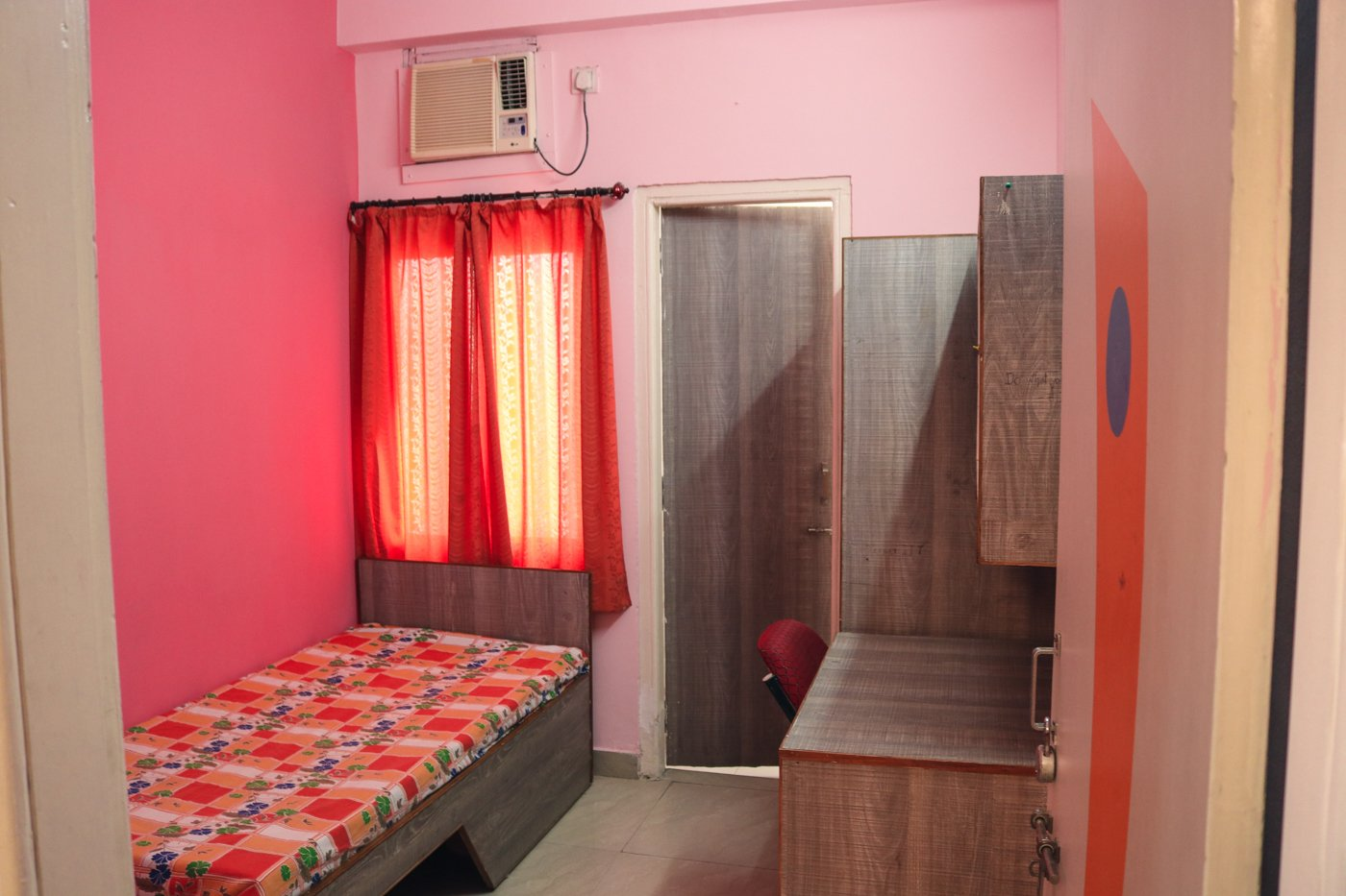 Single AC Room at Sukanya Girls Hostel